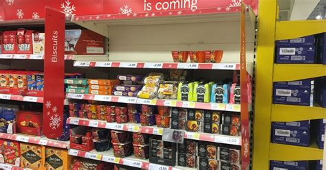 tesco in hull has already started selling christmas treats