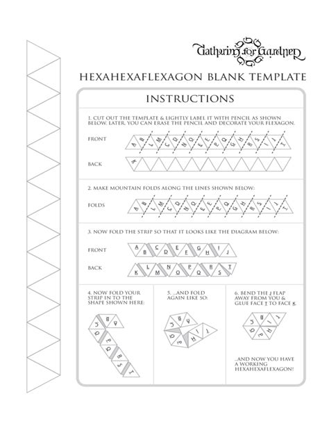 Hexahexaflexagon Template by Hexahexaflexagon Blank Template Free