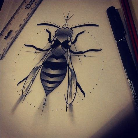 hornets nest tattoo wasp design for a friend tattoodesign wasp drawing
