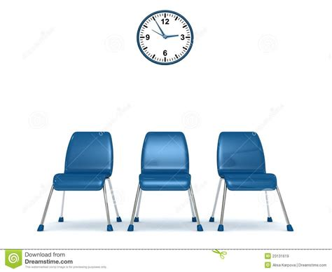 Business Office Floor Plans by Waiting Room With A Row Of Chairs And Wall Clock Stock