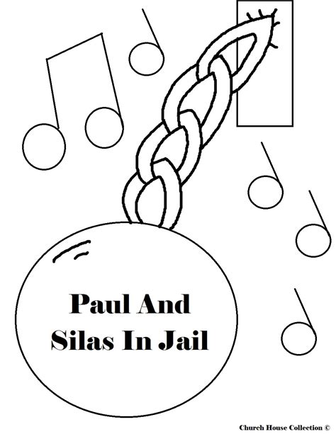 free coloring page paul in prison paul and silas coloring pages