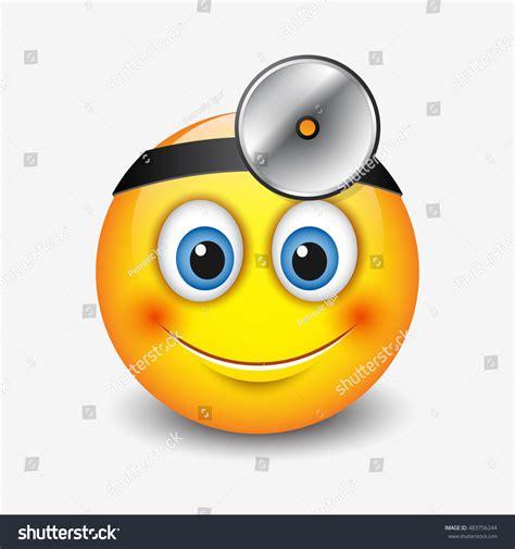 emoticon smiley face stock vector illustration of head cute smiling doctor emoticon wearing headmirror stock