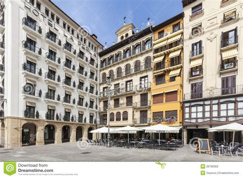 how to visit huarte city navarra in spain plaza del castillo in plona spain editorial photography image 26780352