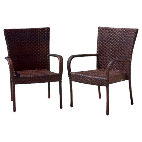 target wicker chairs littleton 2pk wicker patio stackable club chair