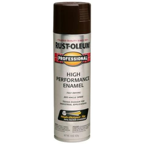 rust oleum professional 15 oz gloss brown spray paint of 6 7548838 the home depot