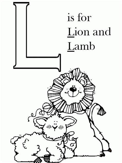 lion and lamb coloring pages coloring home