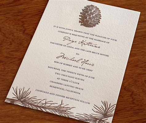 Wedding Invitation Deceased Father Of Groom