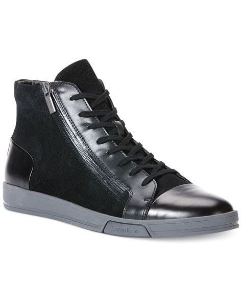 calvin klein sneakers mens calvin klein berke sneakers in black for lyst