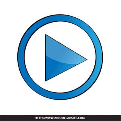 design icon button free blue play button design vector free download