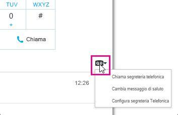 messaggio segreteria telefonica ufficio controllare le opzioni e la segreteria telefonica di skype