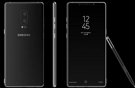 Galaxy Note 8 Sketches by Samsung Galaxy Note 8 Leaks In Sketches And