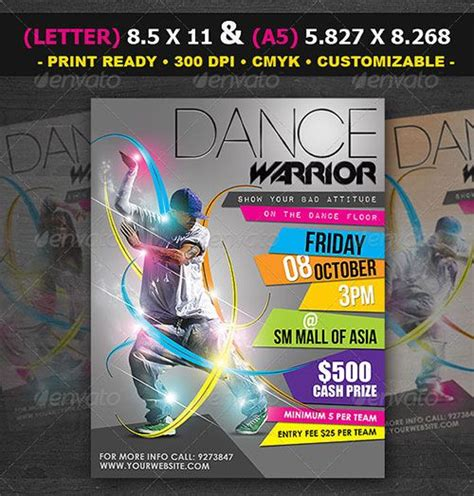 design a dance flyer urban dance party club flyer poster template free club