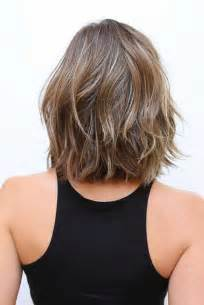 curly blunt cut hair cuts back view 20 fresh and fashionable shoulder length haircuts crazyforus