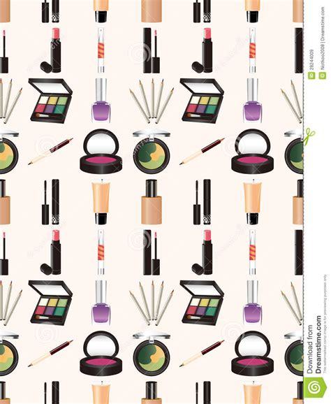makeup pattern wallpaper seamless makeup pattern royalty free stock images image