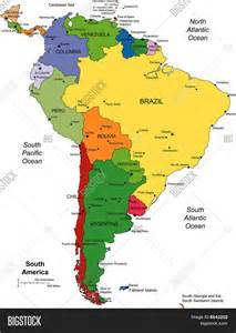 map of south america with country names america map