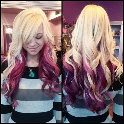 my blonde hair with dark red underneath hair pinterest manic panic cotton candy pink 11 free hair color pictures