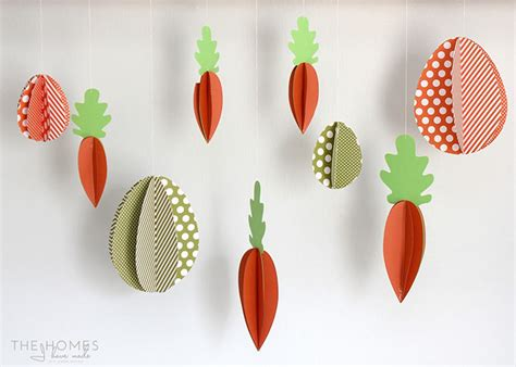 Easter Decorations To Make Out Of Paper - hanging easter decor