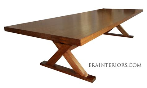 contemporary walnut dining table era interiors
