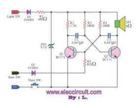 Car Lights Alarm Circuit Headlight Warning Buzzer Electronic Projects Circuits
