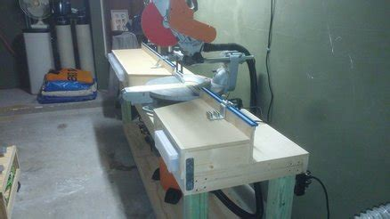 New Mitre Saw Table With Kreg Fence Rails By Keith