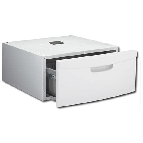 Samsung Washer And Dryer Pedestal White samsung we357a0w washer dryer 15 inch laundry pedestal w 26 lb storage capacity neat white