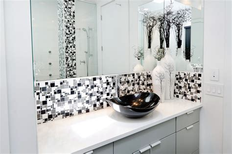 gray black and white bathroom modern minimal black white and grey tile bath