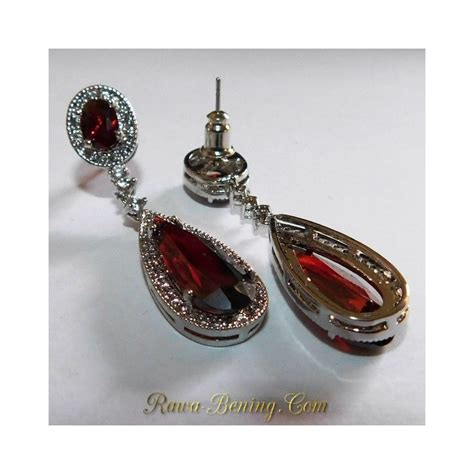 Anting Wanita Anting Pesta by Anting Pesta Wanita Permata Merah Sintentis Gold Filled