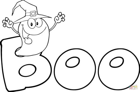 ghost boo coloring page a ghost says quot boo quot coloring page free printable coloring