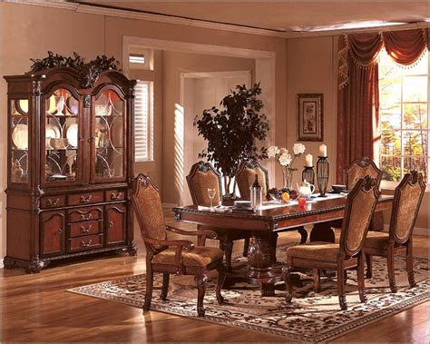 Classic Dining Room Furniture Formal Dining Room Set In Classic Cherry Mcfd5006