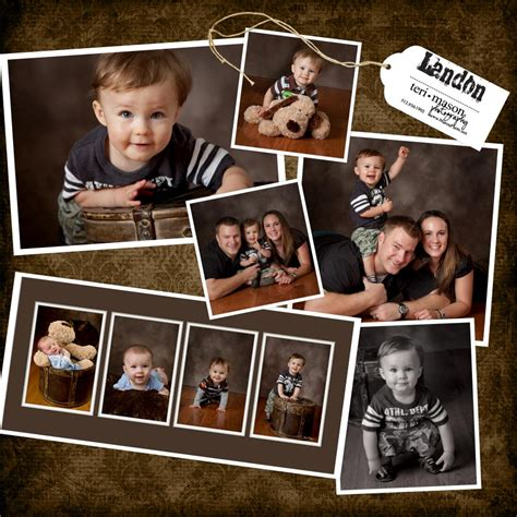 baby s year collage templates georgetown baby s year landon is one