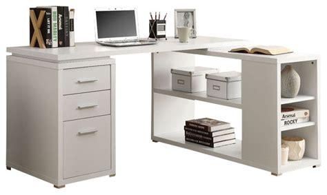 White Hollow Corner Desk by Computer Desk Taupe Left Or Right Facing Desks