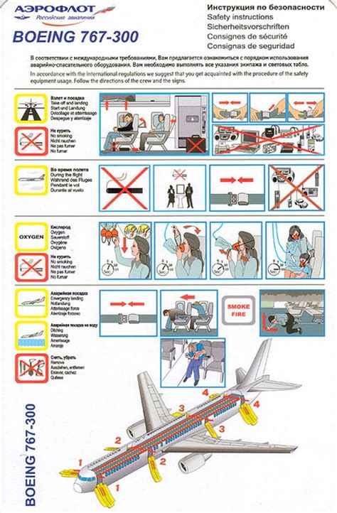 36 Best Aircraft Safety Card Images On Pinterest