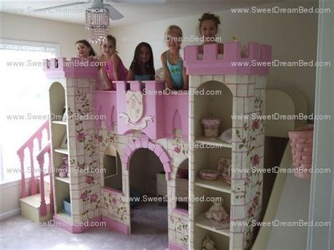 Handmade Princess Bed - handmade princess castle bed with slide by sweet