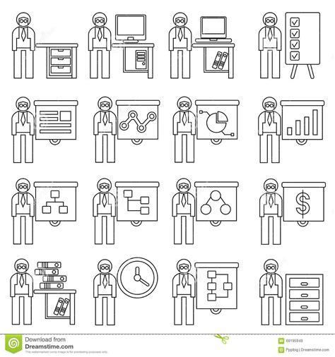 employe de bureau employ 233 de bureau illustration stock image 69195949