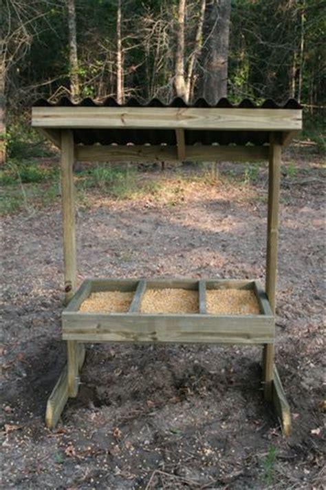 Trough Feeder For Deer trough deer feeder houses plans designs
