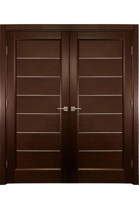 Exterior Wall Thickness by Quot Lagoon Quot Contemporary Double Interior Door