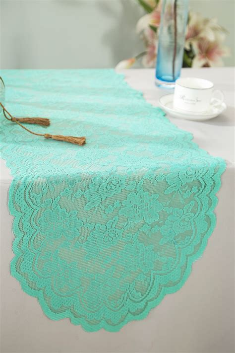 aqua blue table runner tiff blue aqua blue lace table runners wedding