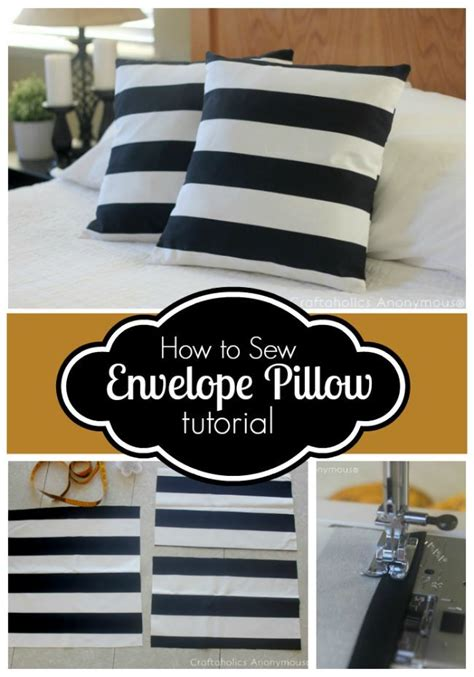 How To Sew Envelope Pillow by How To Sew Envelope Pillow Cover Tutorial Creative