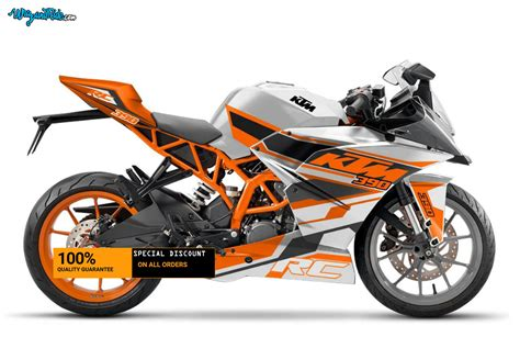 Ktm Rc Ktm Rc 2017 Orange Graphics Decal Pack Rc 390 Wrap And