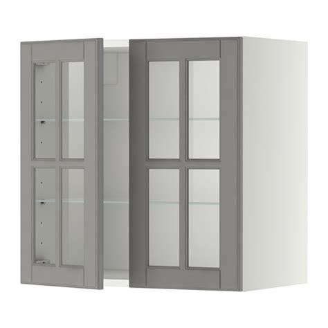 Rak Dapur Kaca metod kabinet dinding dg rak 2 pintu kaca putih bodbyn
