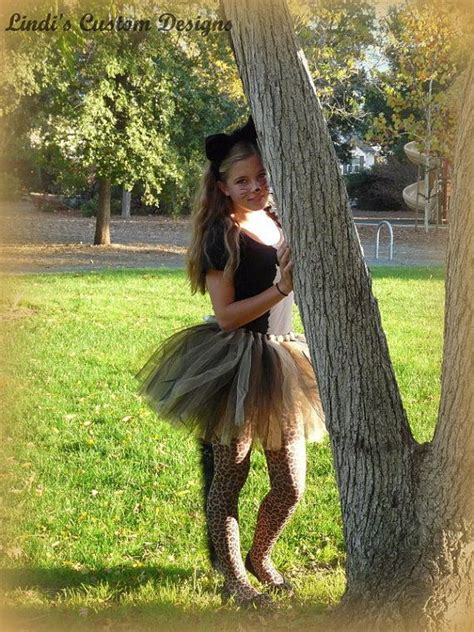 sexy tutus for preteen girls tween teen and young adult cheetah black cat boa tail
