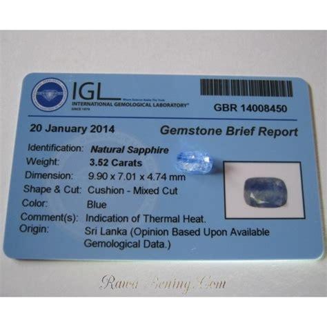 Sapphire Sri Lanka Memo Ring batu permata safir srilanka 3 52 carat memo keaslian