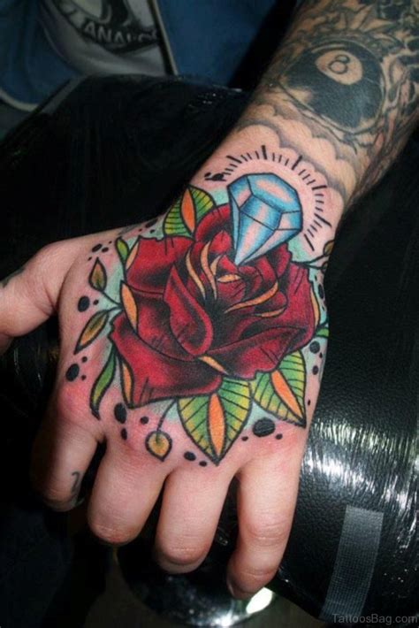 48 perfect diamond tattoos on hand