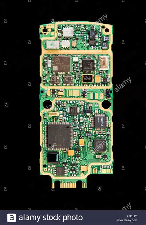 download resetter t10 circuit board from ericsson t10 mobile phone stock photo