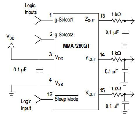 accelerometer circuit diagram microcontroller based accelerometer page 5 engineersgarage
