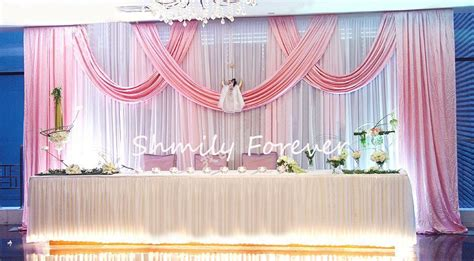 stunning new design white pink wedding backdrop curtain