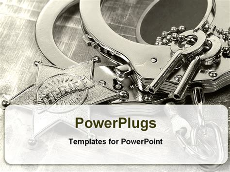 best powerpoint template handcuffs with keys for law