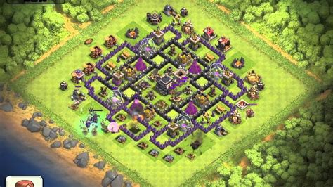 layout coc th9 clash of clans testing out jennifuh s th9 trophy layout