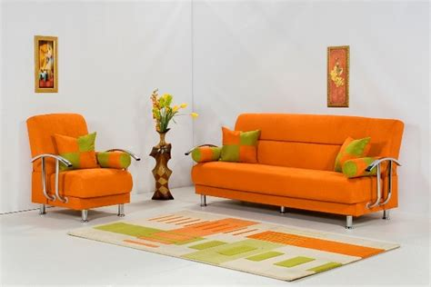Orange Sofa Decorating Ideas by Decorating Ideas Using Orange Sofa In Living Room Freshnist