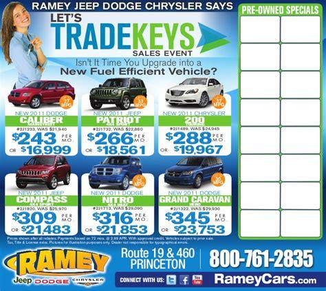 Ramey Jeep Princeton Let S Trade Sales Event Ramey Chrysler Dodge Jeep